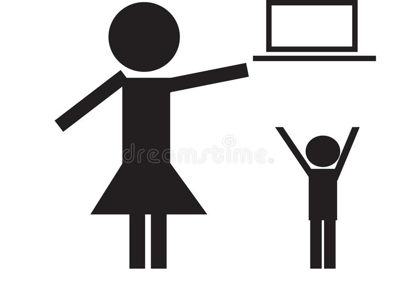 Subsistance d'attention hors de portée des enfants illustration de vecteur