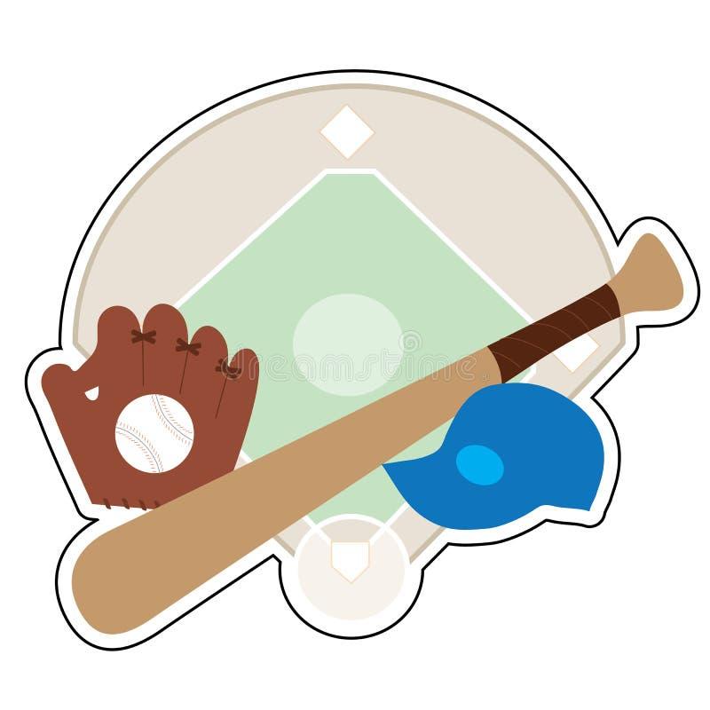 Substance de base-ball illustration stock