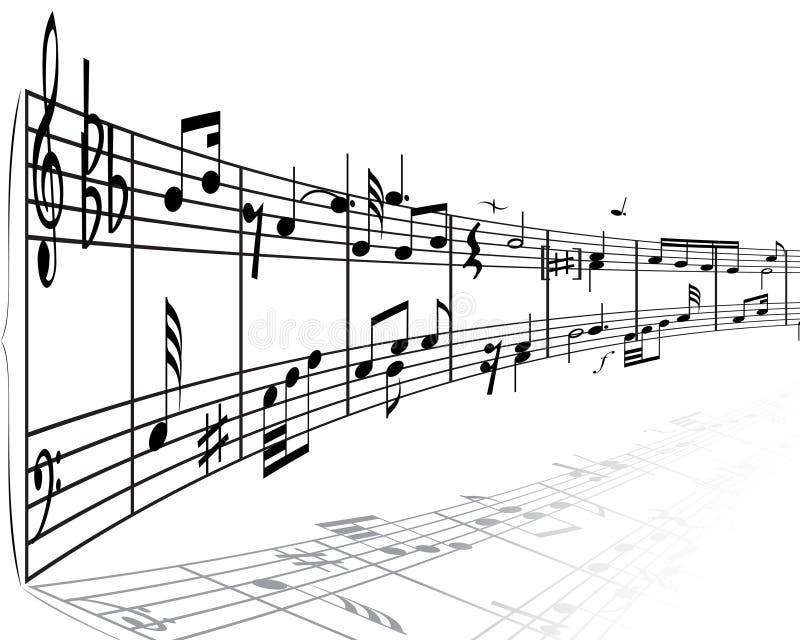 substance de notes musicales illustration libre de droits