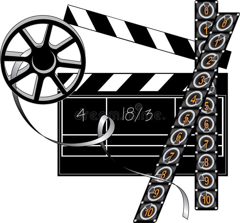 Substance de réalisateur de film illustration stock