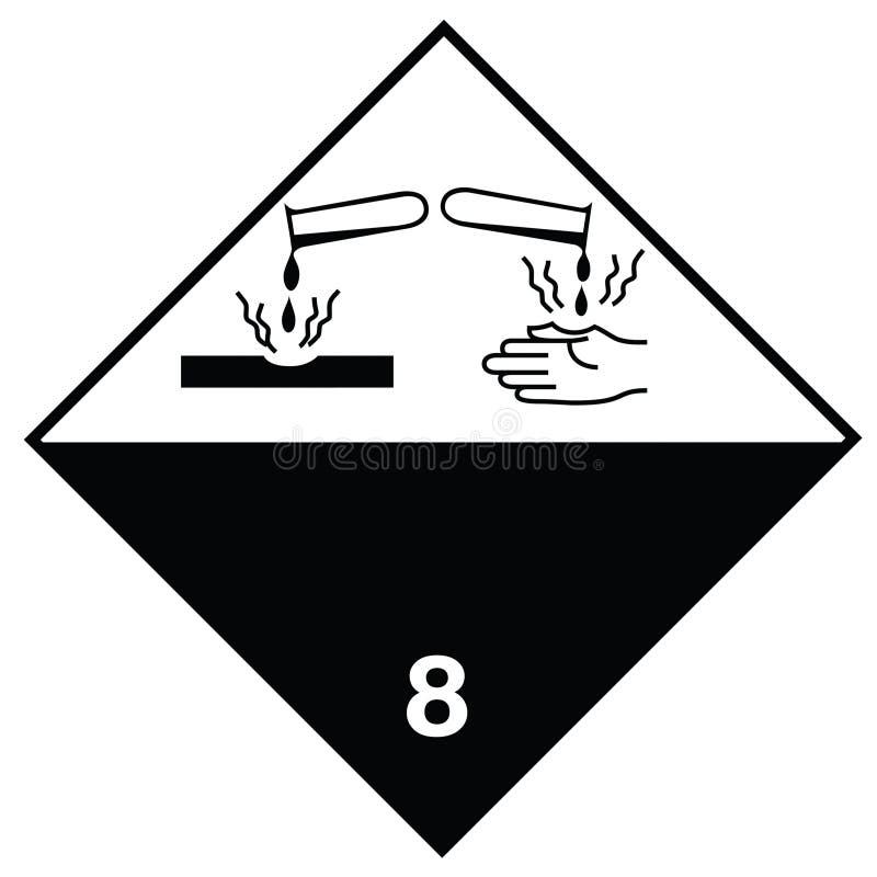 Substances corrosives de signe de risque illustration libre de droits