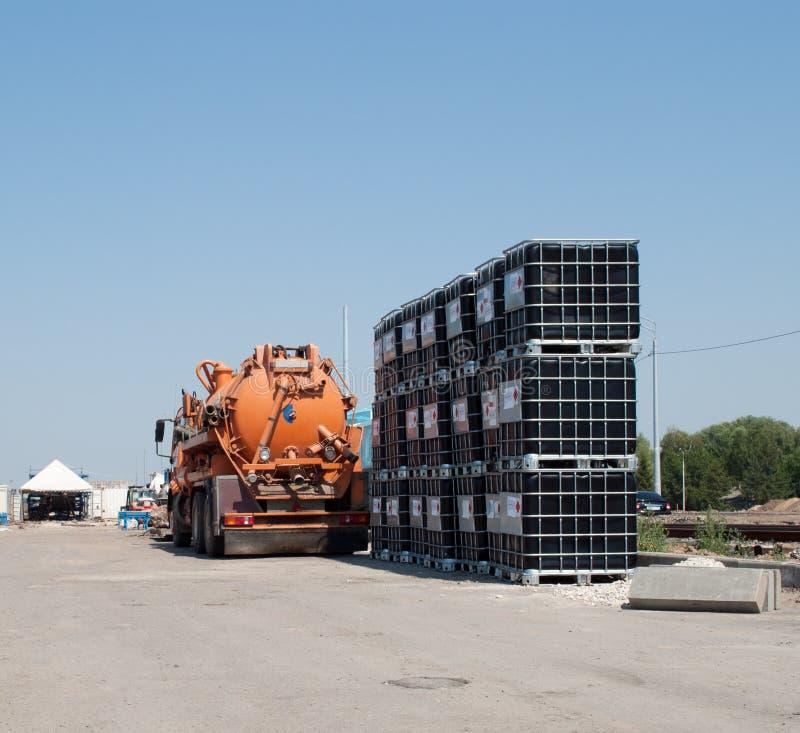 substanci chemicznej ciężarówka zdjęcia royalty free