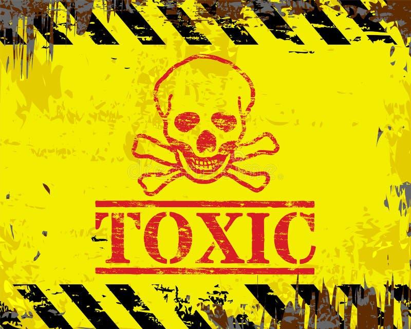 Substanci toksycznej emalii znak ilustracji
