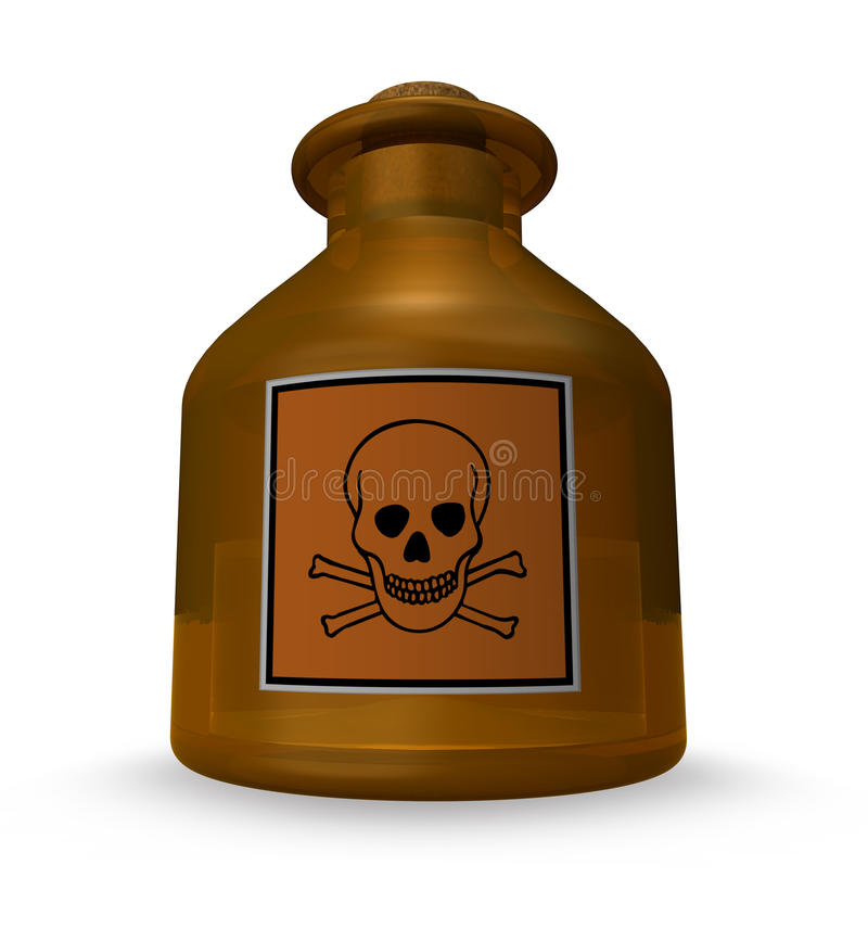 substancja toksyczna ilustracja wektor