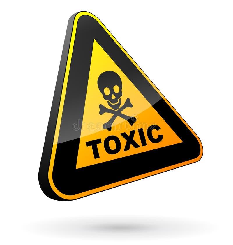 Substancja toksyczna szyldowy 3d ilustracja wektor