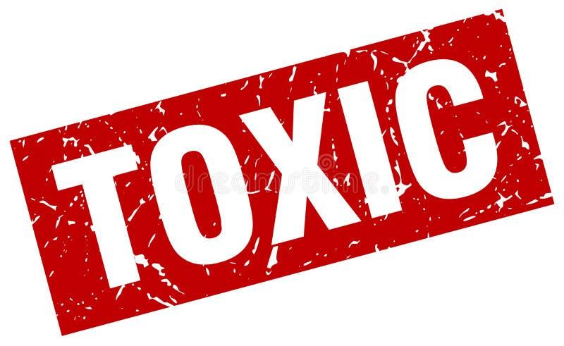 Substancja toksyczna znaczek ilustracji