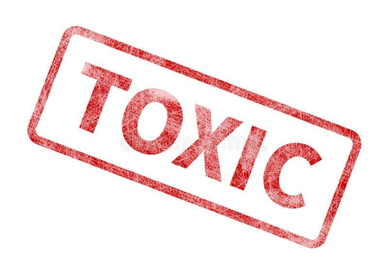 Substancja toksyczna znaczek - Czerwona Grunge foka ilustracji