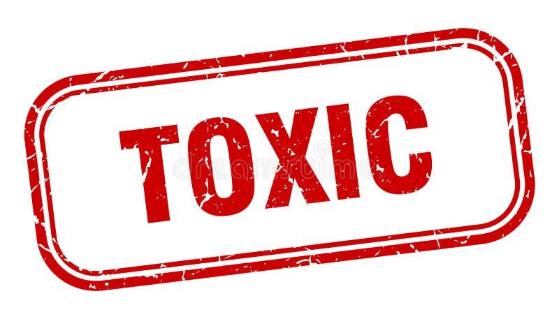 Substancja toksyczna znaczek ilustracja wektor