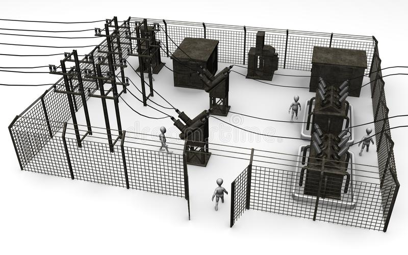 Download Substation Royalty Free Stock Images - Image: 14838939