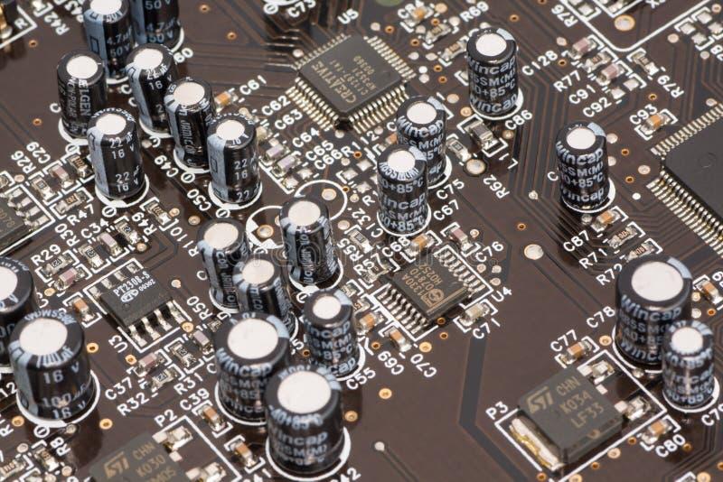 Subsystem angebracht an einem Druckverdrahtungsbrett stockbild