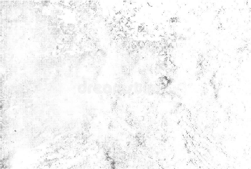 Subtelnego czarnego halftone tekstury wektorowa narzuta Monochromatyczny abstrakt splattered białego tło Kropkowany zbożowy czarn ilustracji