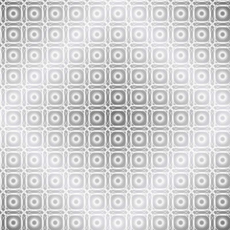 Subtelny geometryczny tło z kwadratami i słońcami ilustracja wektor