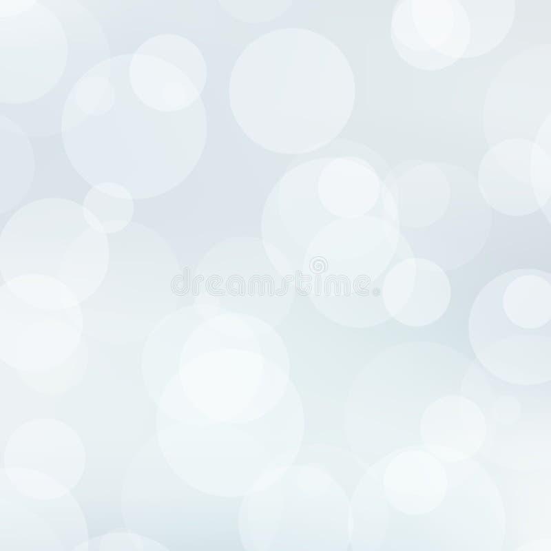 Subtelny szarość i bielu tło z przejrzystymi okręgami ilustracja wektor