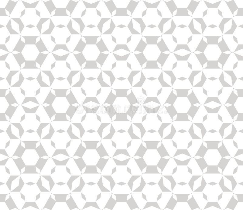 Subtelny wektorowy geometryczny bezszwowy wzór Delikatny lekki i biały - szara tekstura ilustracji