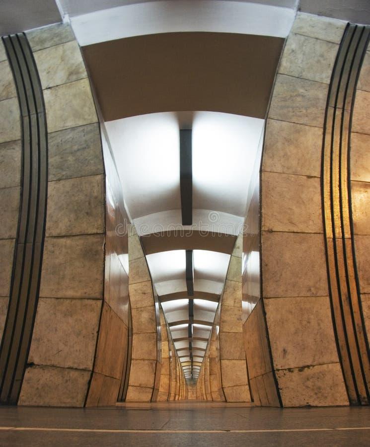 Subterráneo de Kiev foto de archivo
