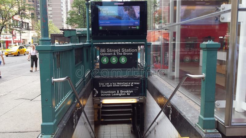 Subterráneo de Nueva York fotografía de archivo libre de regalías
