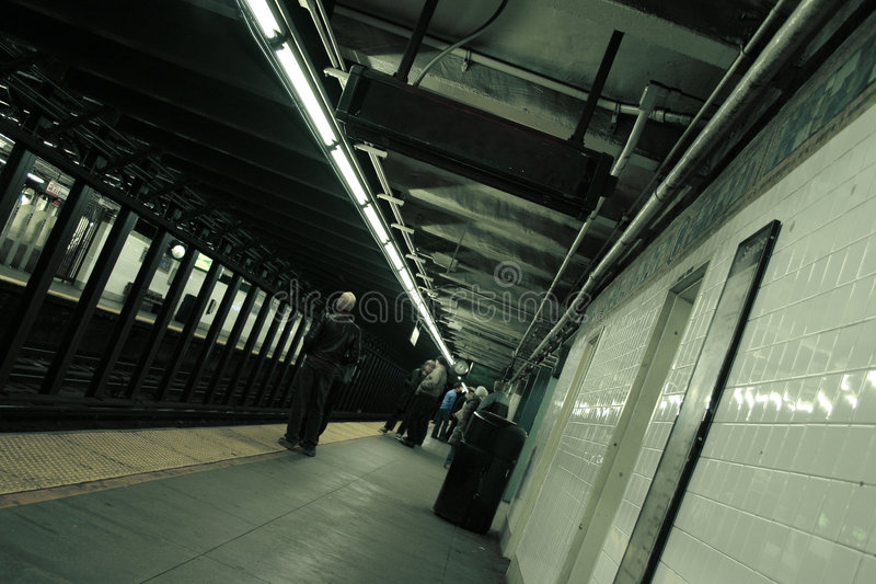 Subterráneo de NY fotografía de archivo