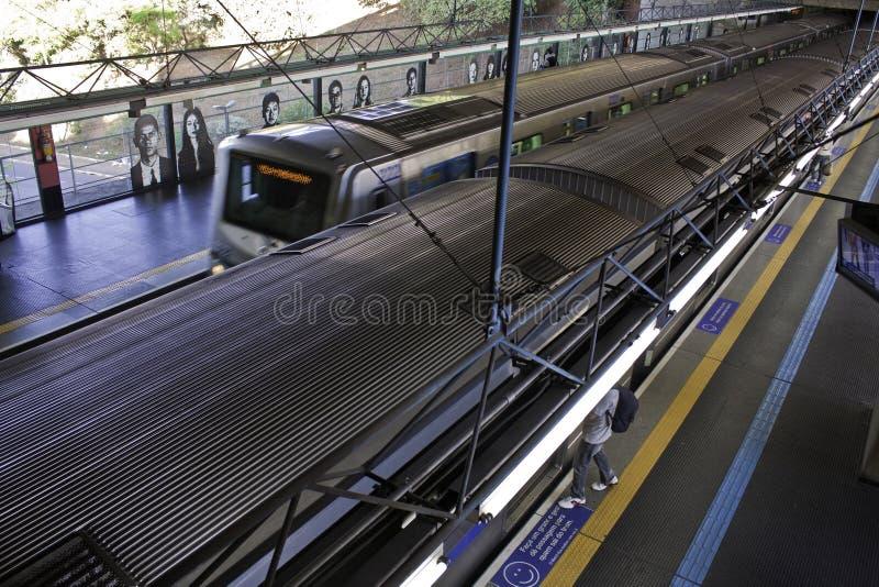 Subterráneo de São Pablo (Metrô) - estación de Sumaré imágenes de archivo libres de regalías