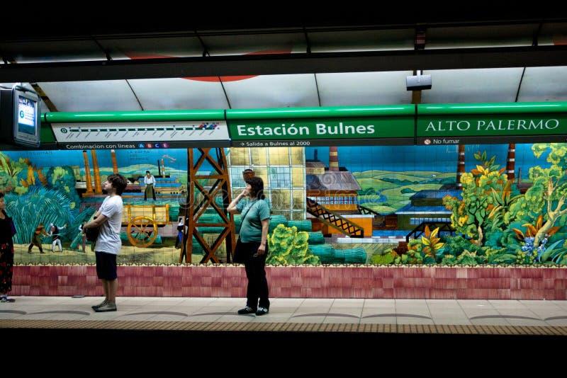 Subterráneo en Buenos Aires, la Argentina. imagen de archivo libre de regalías