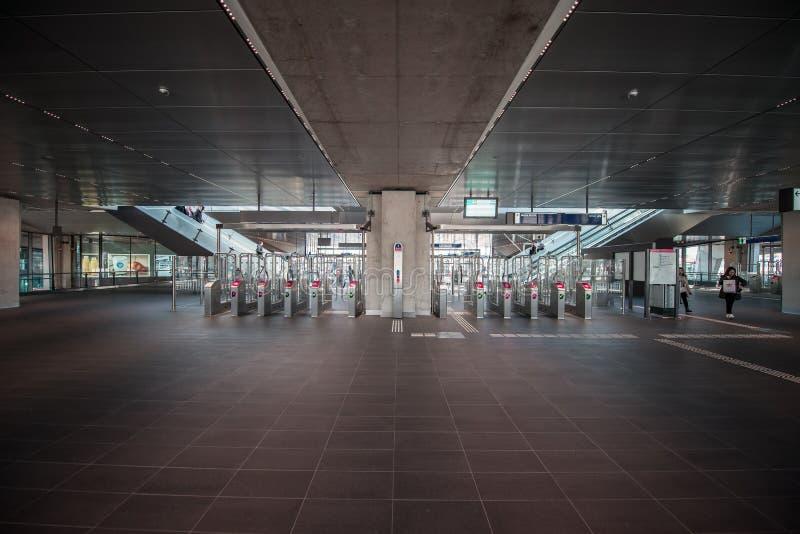 Subterráneo/metro/estación del metro Amsterdam Noord, Nederland foto de archivo libre de regalías