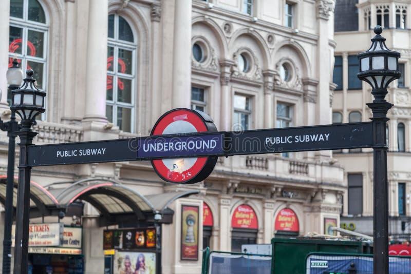 Subterráneo público Londres Inglaterra imágenes de archivo libres de regalías