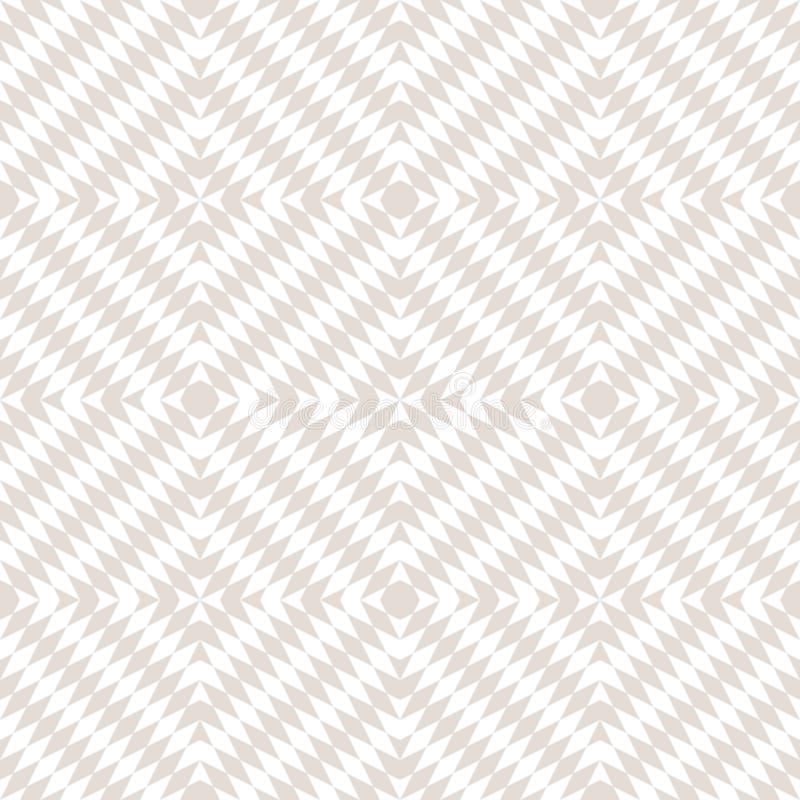 Subtiel vector wit en beige geometrisch naadloos patroon Optische kunsttextuur royalty-vrije illustratie