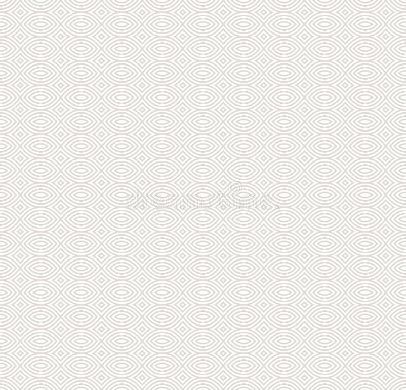 Subtiel wit en beige naadloos patroon Elegante lineaire textuur royalty-vrije illustratie