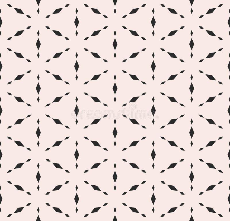 Subtiele geometrische textuur, vector naadloos patroon stock illustratie