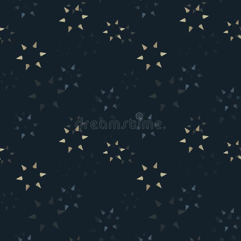 Subtiele sterren die naadloos patroon langzaam verdwijnen stock illustratie
