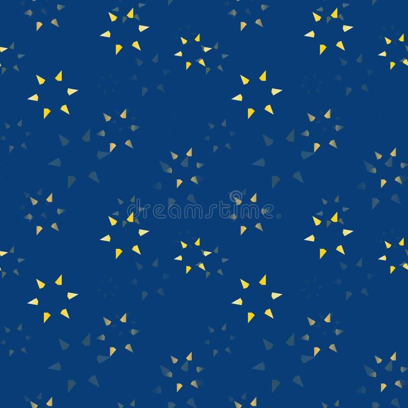 Subtiele sterren die naadloos patroon langzaam verdwijnen royalty-vrije illustratie
