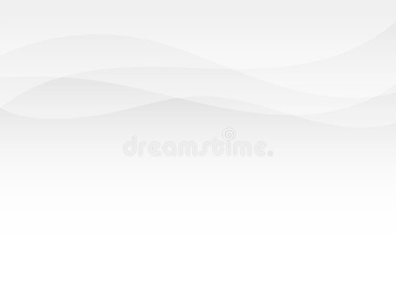 Subtil bakgrund för grå vektor för vågbegrepp abstrakt royaltyfri illustrationer