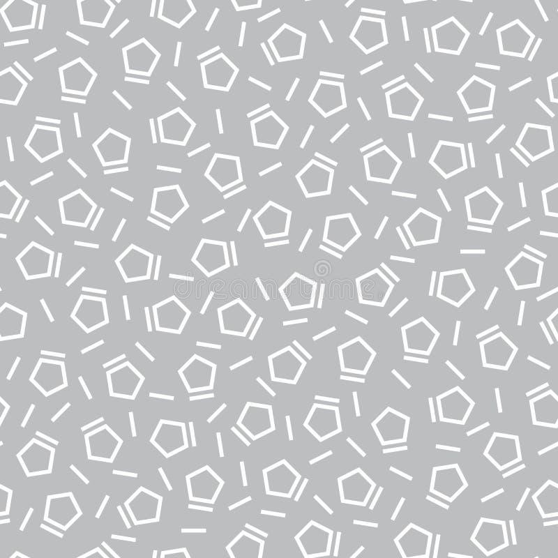 Subtil modell för abstrakt för memphis för konst för geometrifransdeco pentagon mode vektor illustrationer