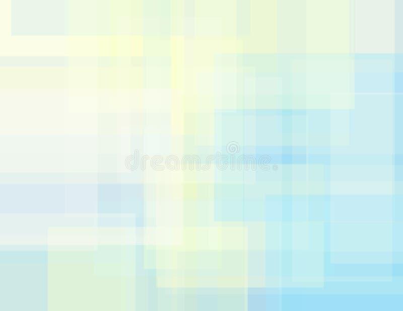 Subtiler geometrischer Hintergrund mit Sahne und hellblaue Rechtecke stock abbildung