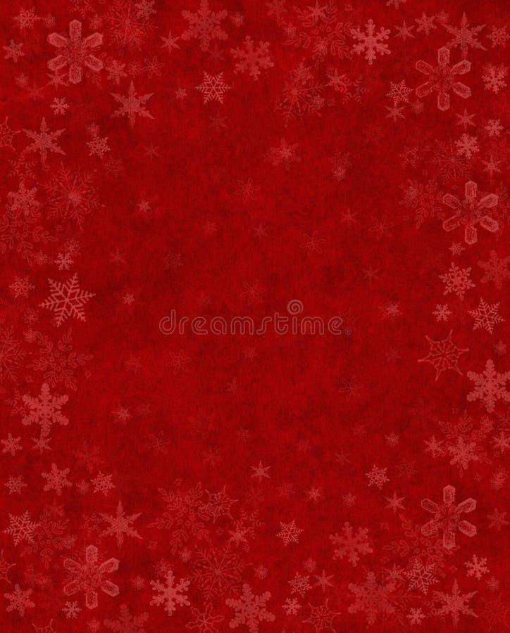 Subtiler Schnee Auf Rot Lizenzfreies Stockfoto