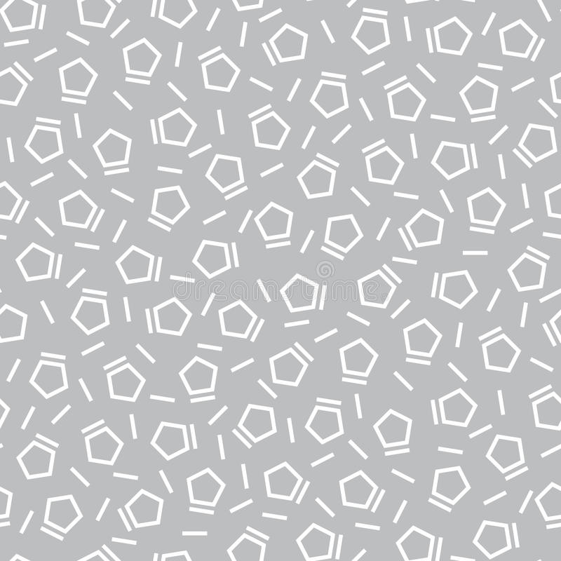 Subtiles Muster des abstrakten Kunstmemphis-Modepentagons deco der Geometrieabgenutzten stelle vektor abbildung