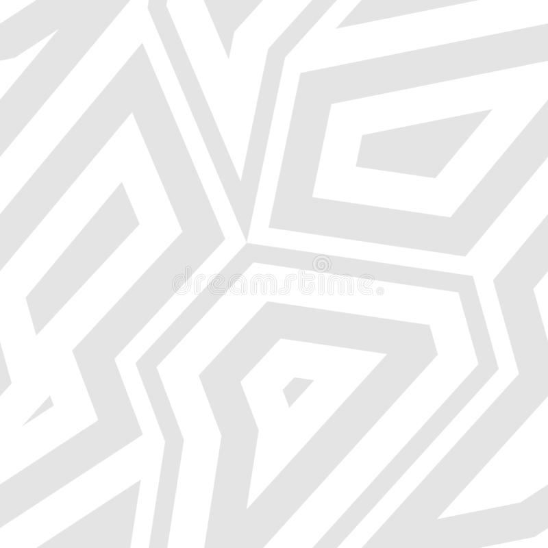 Subtiles weißes und graues geometrisches nahtloses Muster Vektorabstrakter Hintergrund lizenzfreie abbildung