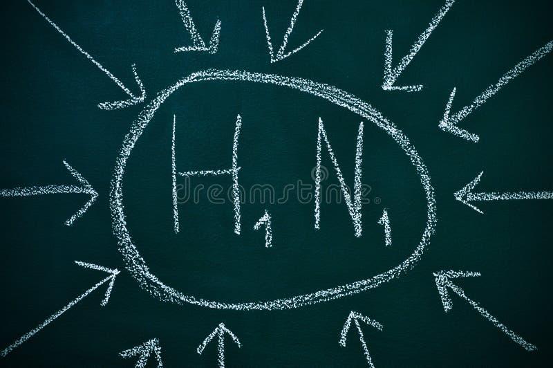 Subtipo H1N1 del virus de la gripe A fotos de archivo