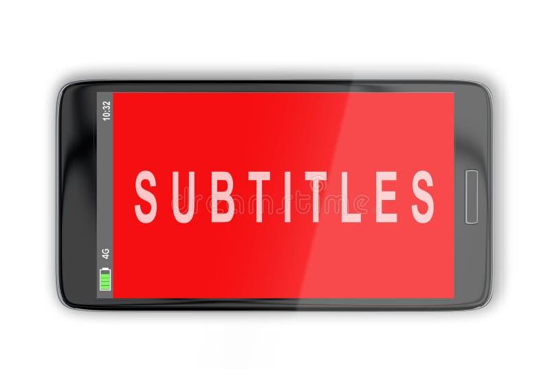 Subtitles - media concept royalty free illustration
