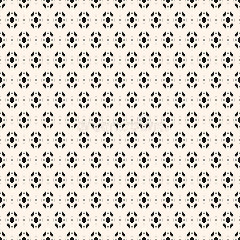 Subtle abstract geometric background. Vector seamless ornament pattern. Monochrome texture with smooth ovate geometrical shapes. Decorative design element for vector illustration