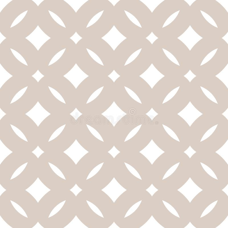 Subtle abstract seamless floral pattern. Vector beige and white background stock illustration