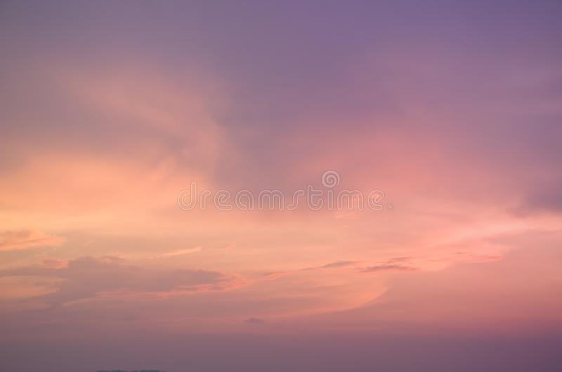 Subtle background Of the beautiful pastel sky royalty free stock photo