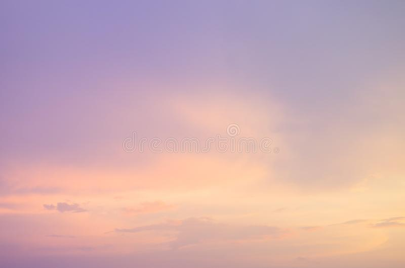 Subtle background Of the beautiful pastel sky stock images