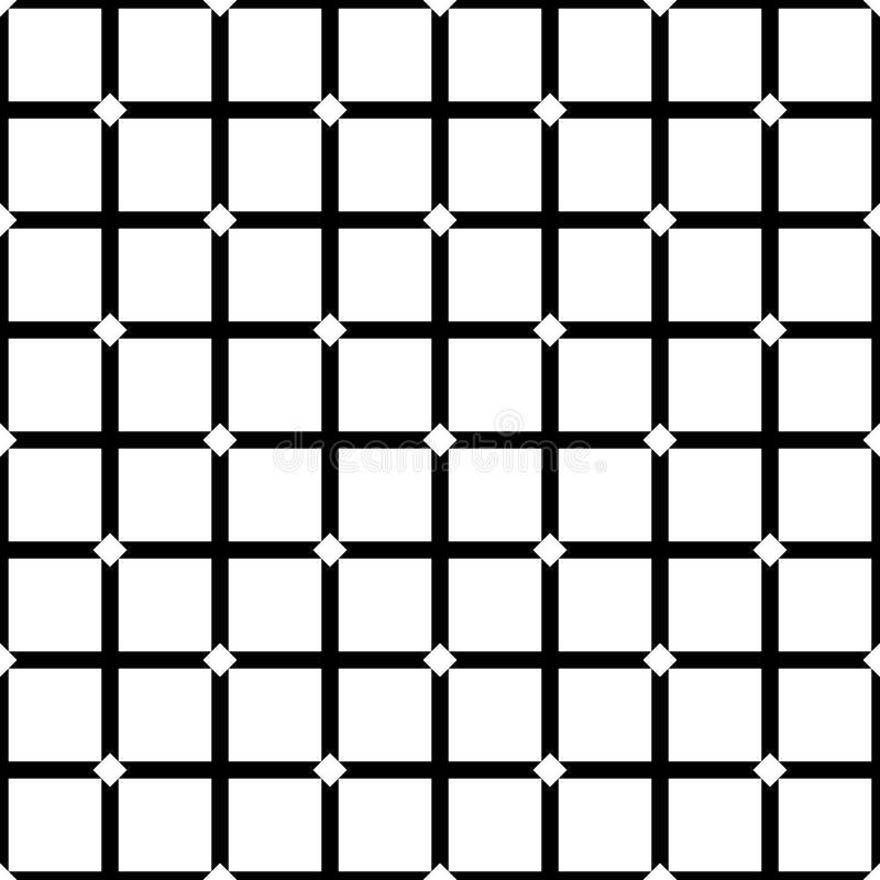 Subtle dark geometric seamless pattern with small diamond shapes stock illustration