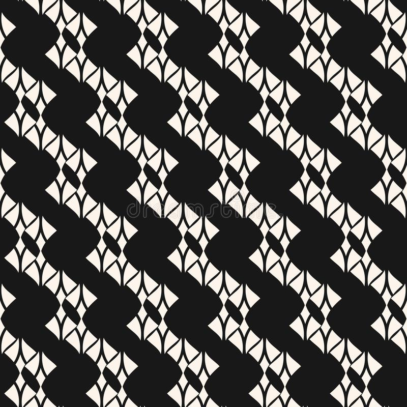 Subtle black and white lace texture. Vector abstract geometric seamless pattern. Subtle lace seamless pattern. Abstract black and white geometric background with vector illustration
