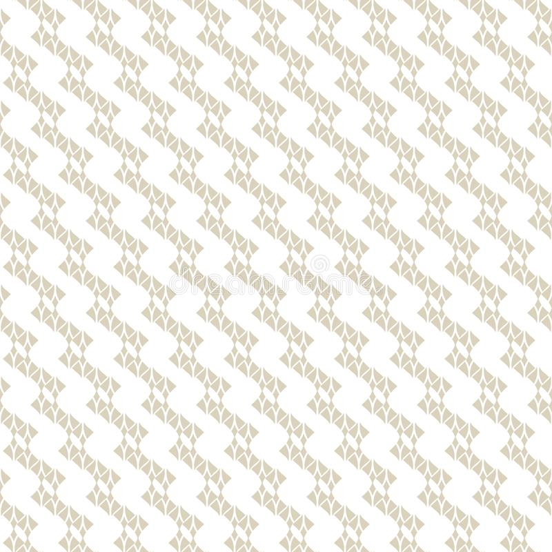 Subtle white and beige lace texture. Vector abstract geometric seamless pattern. Subtle lace seamless pattern. Abstract geometric background with curved shapes stock illustration