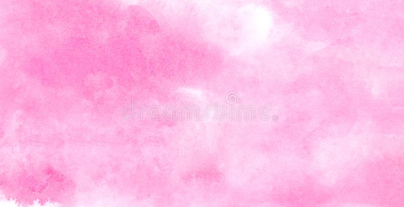 Subtle light pink color ink effect shades gradient on textured paper. Smeared aquarelle painted magenta watercolor canvas. For splash design, invitation stock photos