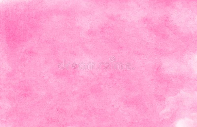 Subtle light pink color ink effect shades gradient on textured paper. Smeared aquarelle painted magenta watercolor canvas. For splash design, invitation royalty free stock photo