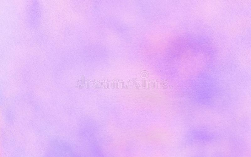 Subtle light purple gradient water color stained paper texture background. Soft smeared gentle violet abstract watercolor. Illustration for aquarelle card stock photos