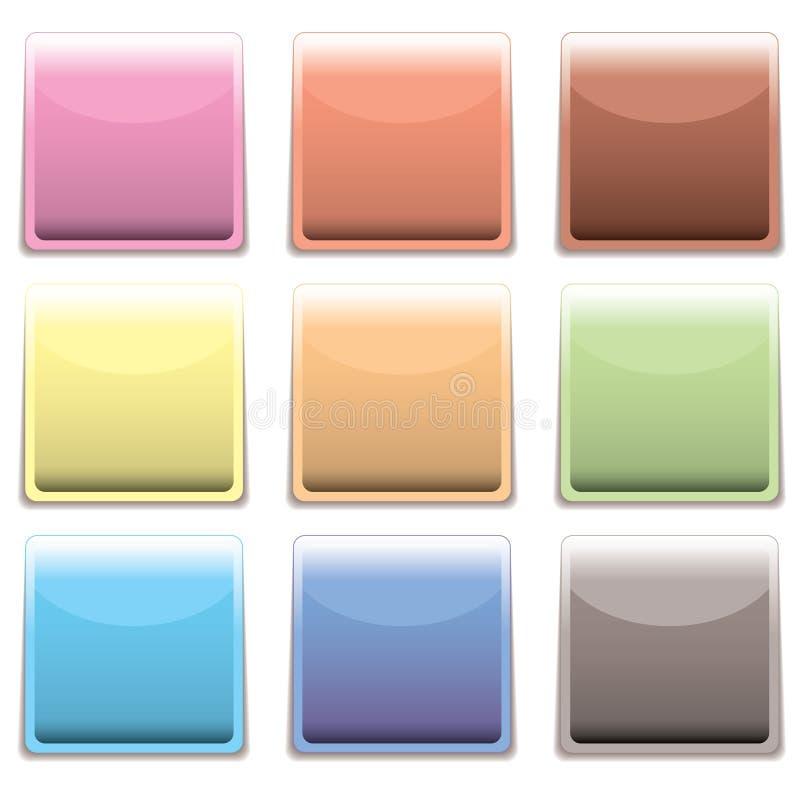 Download Subtle Square Plastic Web Icon Stock Photography - Image: 12988922