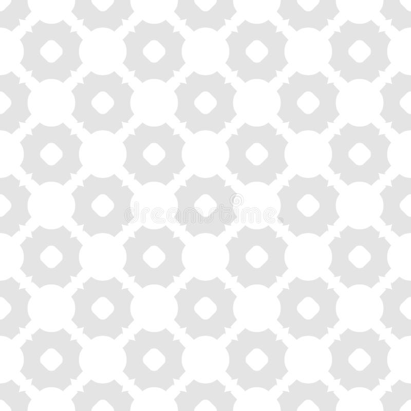 Subtle vector abstract seamless pattern. Elegant white and light gray background royalty free illustration